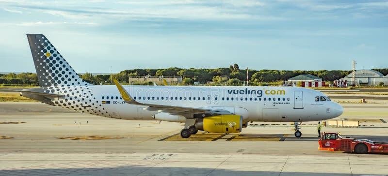 Vliegtuigen van Vueling Airlines stock foto