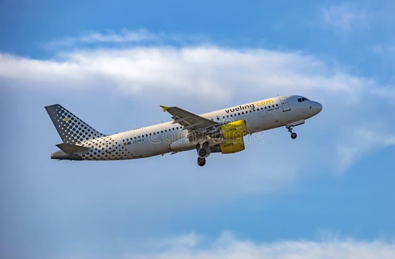 Vliegtuigen van Vueling Airlines stock afbeeldingen