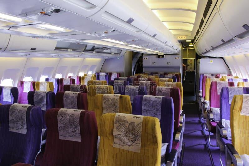 Vliegtuigencabine royalty-vrije stock foto