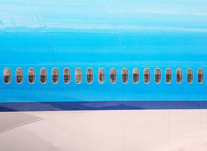 Vliegtuigenfuselage stock afbeeldingen