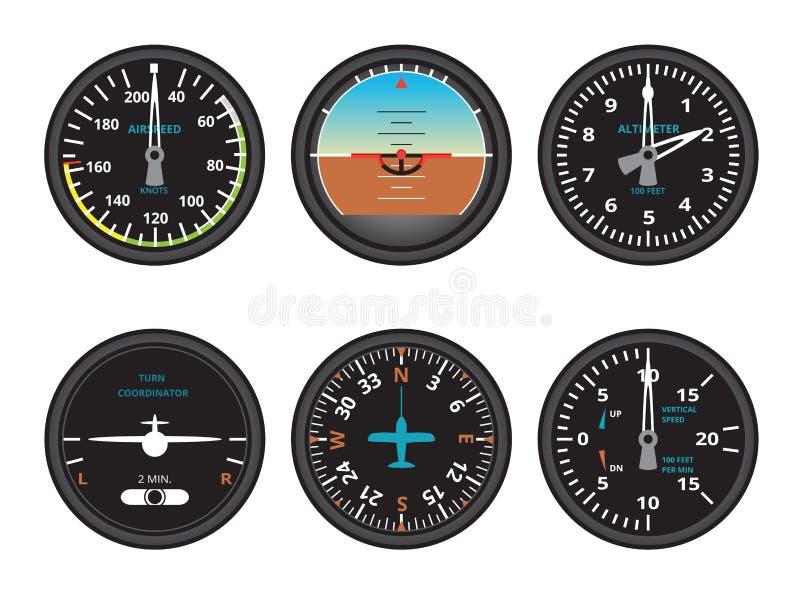 Vliegtuigenmaten stock illustratie