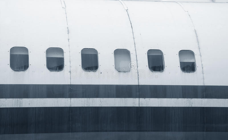 Vliegtuigenvensters stock afbeelding