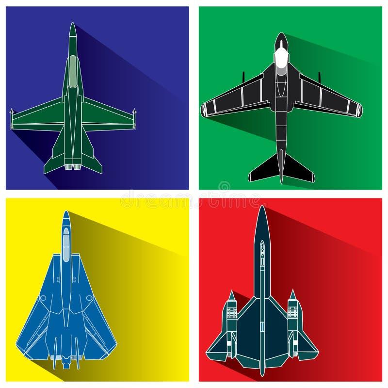 Vliegtuigenwapen stock illustratie