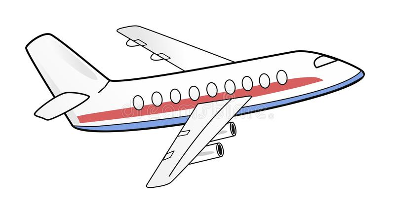 Vliegtuigillustratie stock foto's