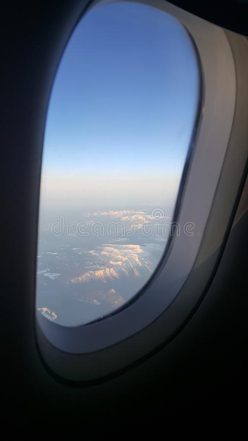 Vliegtuigmening royalty-vrije stock afbeelding
