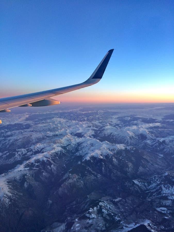 Vliegtuigmening stock foto