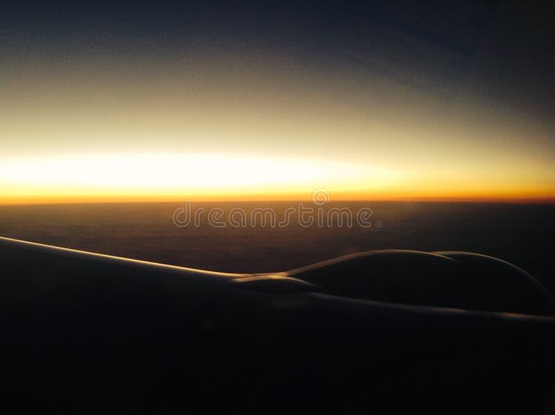 Vliegtuigmening over de Atlantische Oceaan stock afbeelding