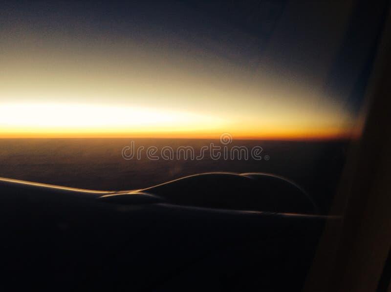 Vliegtuigmening over de Atlantische Oceaan stock foto's