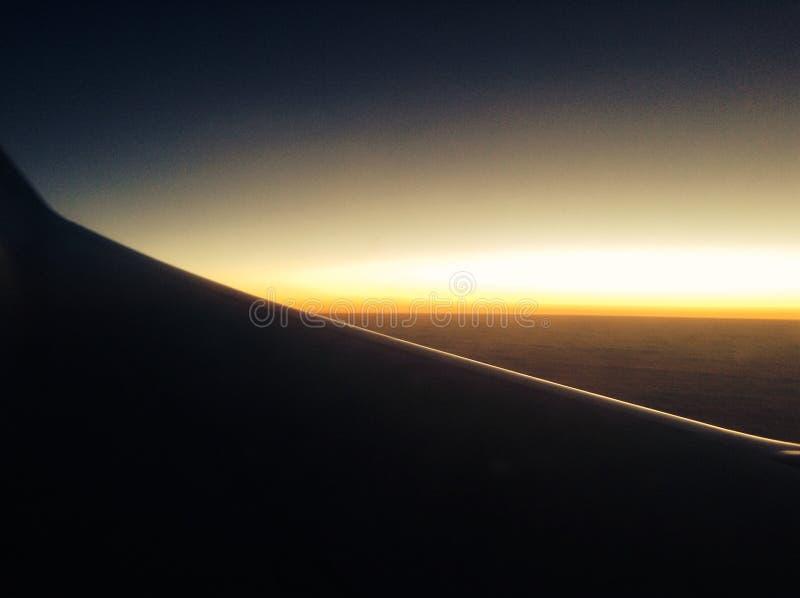 Vliegtuigmening over de Atlantische Oceaan royalty-vrije stock afbeelding