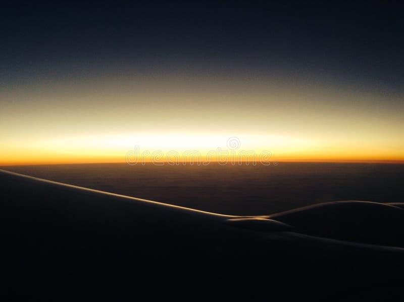 Vliegtuigmening over de Atlantische Oceaan royalty-vrije stock fotografie