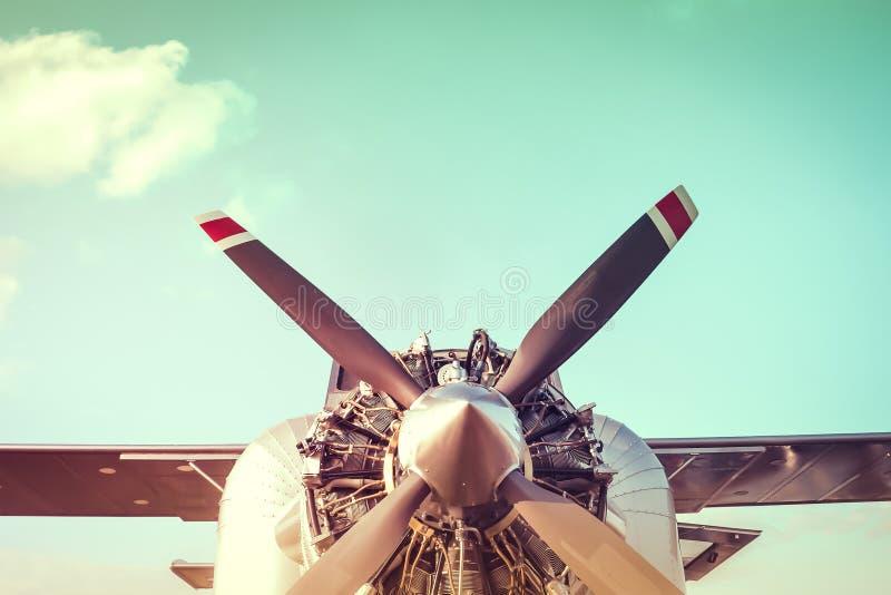 Vliegtuigmotor stock afbeelding