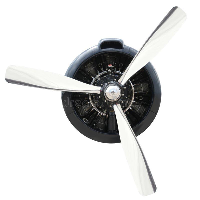 Vliegtuigmotor met Propeller stock foto's