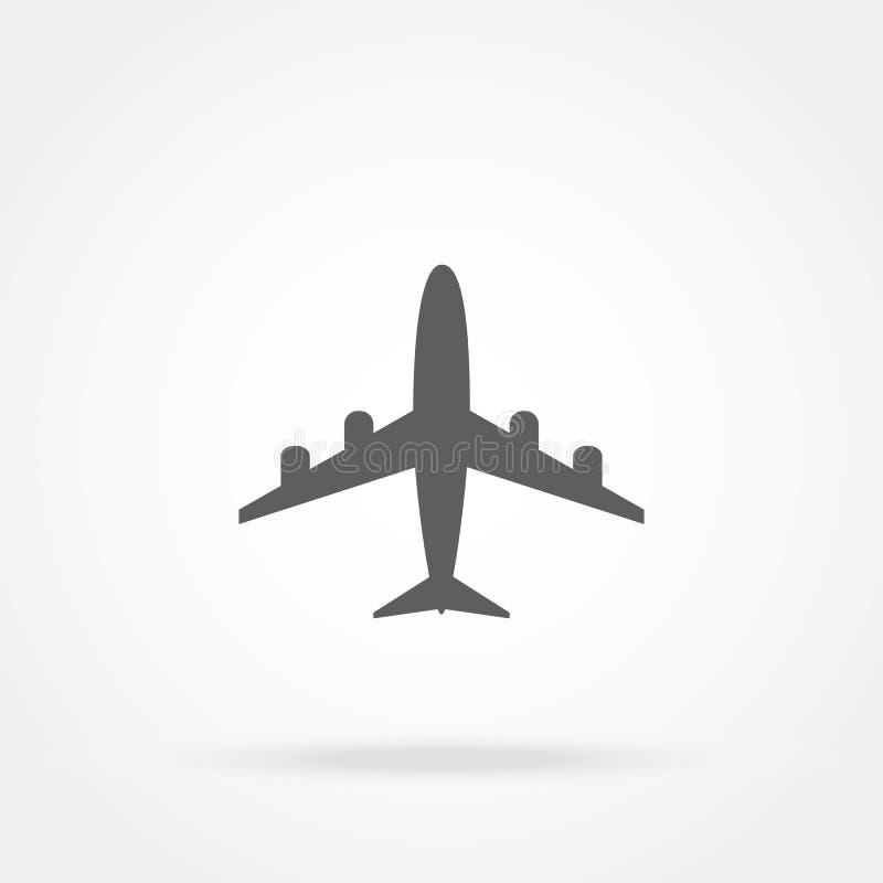 Vliegtuigpictogram stock illustratie