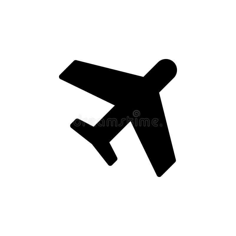 Vliegtuigpictogram De tekens en de symbolen kunnen voor Web, embleem, mobiele toepassing, UI, UX worden gebruikt royalty-vrije illustratie