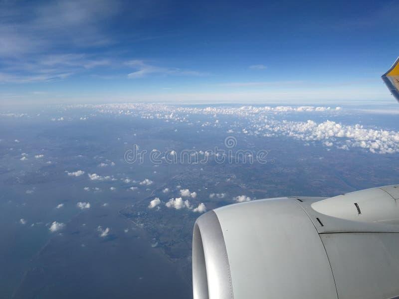 Vliegtuigreis royalty-vrije stock fotografie