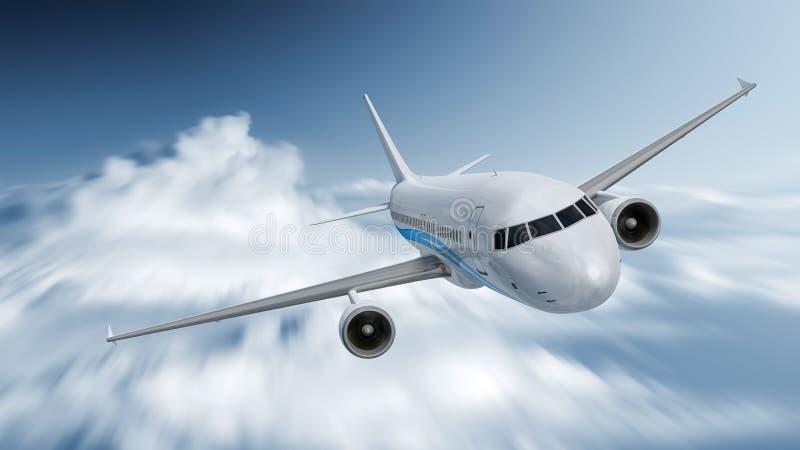 Vliegtuigsnelheid stock illustratie