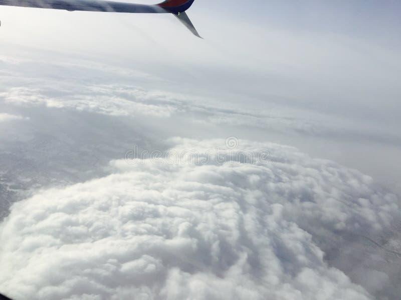 Vliegtuigwolken royalty-vrije stock foto