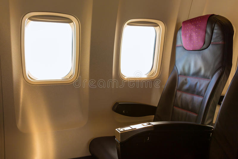 Vliegtuigzetel royalty-vrije stock fotografie