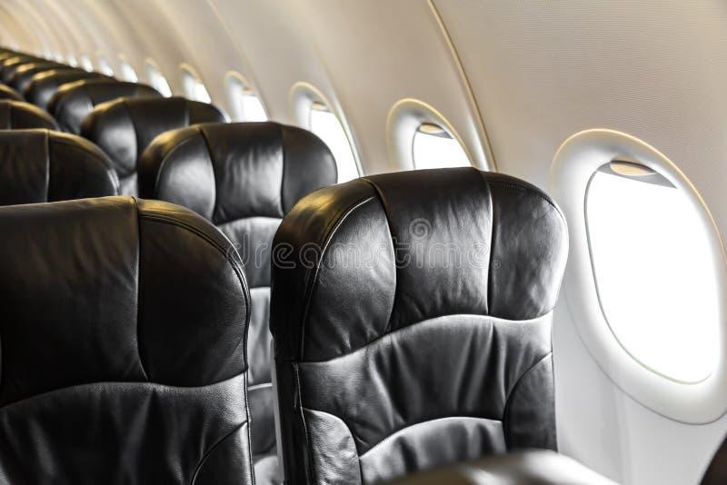 Vliegtuigzetels stock foto's