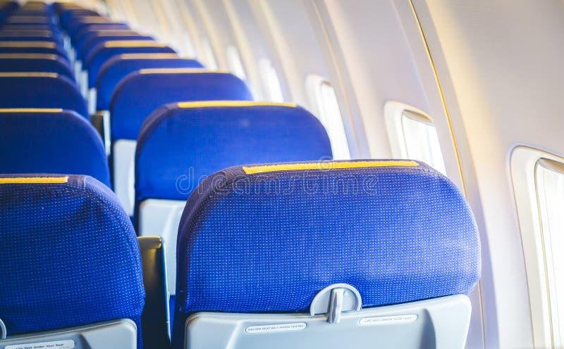 Vliegtuigzetels royalty-vrije stock afbeeldingen