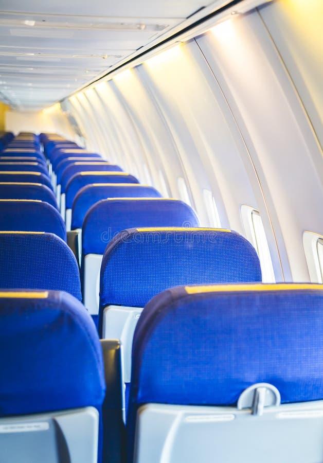 Vliegtuigzetels stock foto