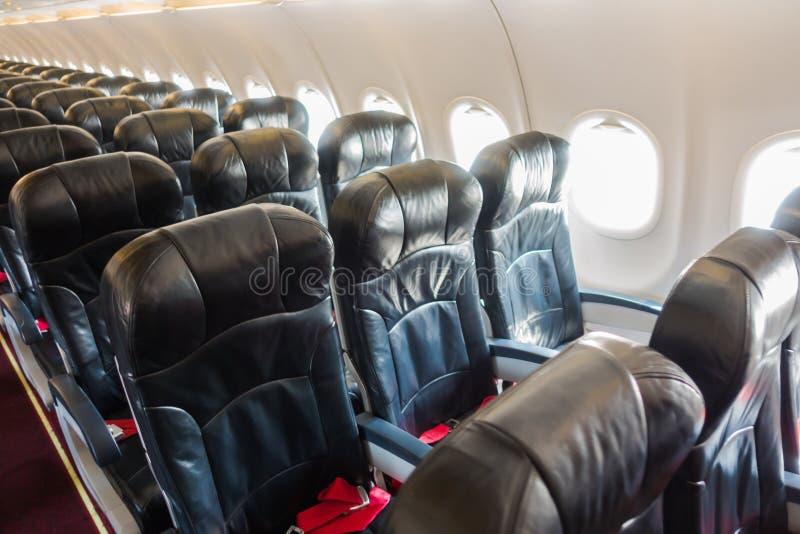 Vliegtuigzetels in de cabine royalty-vrije stock fotografie