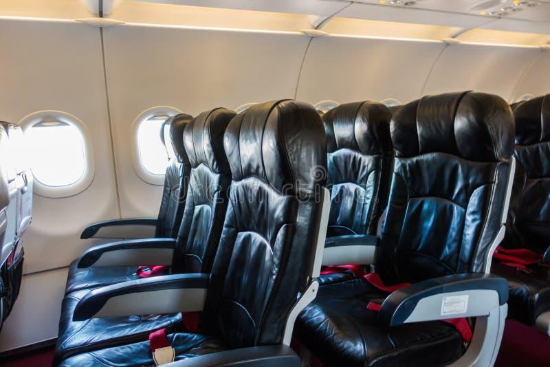 Vliegtuigzetels in de cabine stock fotografie