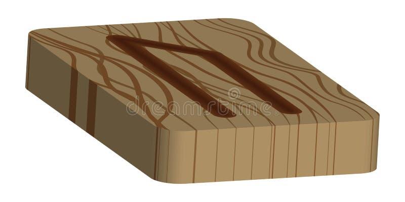 Vlies Uruz r skandinavisch Nachgemachtes brennendes Holz sch?tzende ?lverarbeitung lizenzfreie abbildung