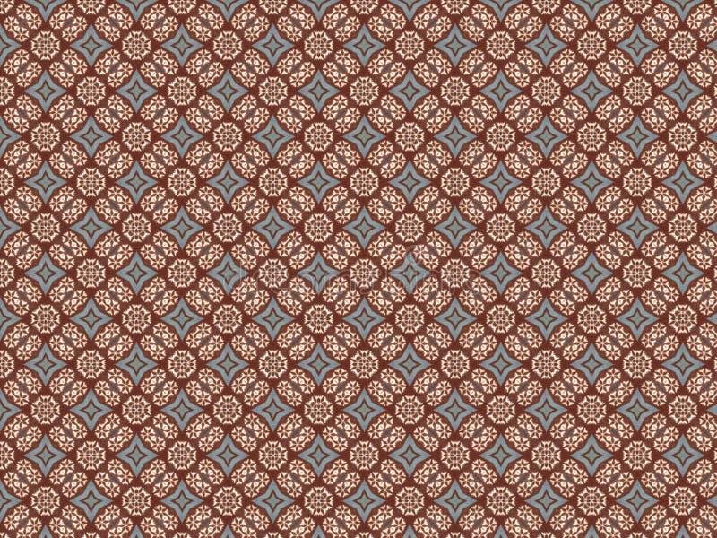 Vliessegeltuch mit einem Muster von Schneeflocken und von blauen Sternen vektor abbildung