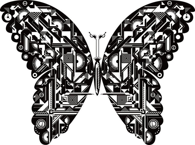 Vlinder royalty-vrije illustratie