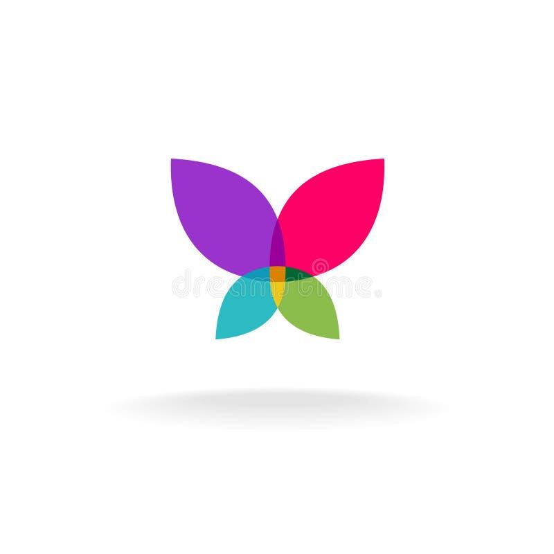 Vlinder abstract embleem stock illustratie