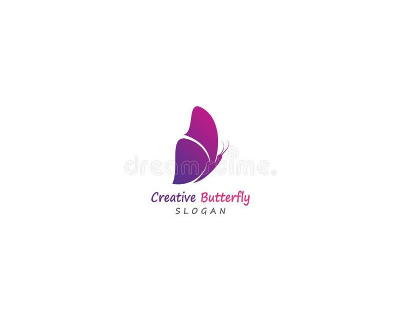 Vlinder conceptueel eenvoudig, kleurrijk pictogram embleem Vector illustratie vector illustratie