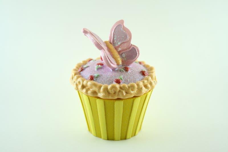 Vlinder Cupcake stock foto