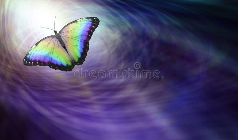 Vlinder die Geestelijke Versie symboliseren stock foto