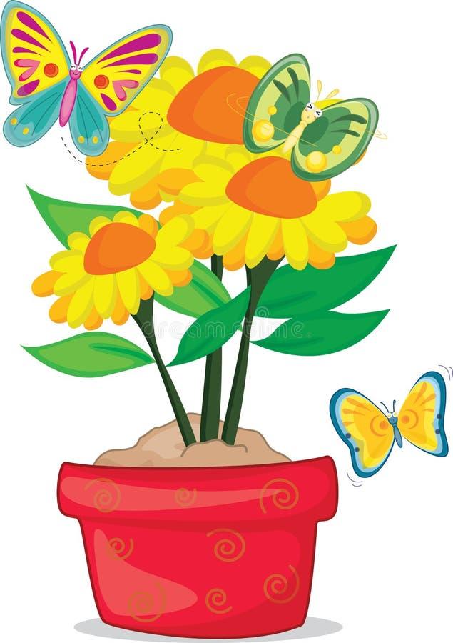 Vlinder drie vector illustratie