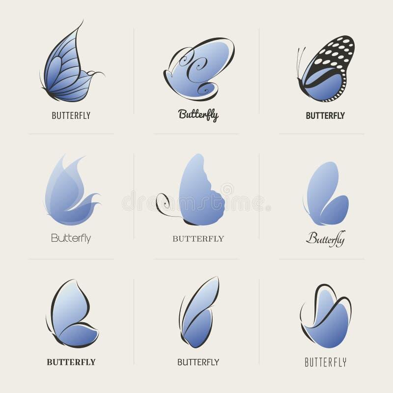 Vlinder. Inzameling van ontwerpelementen royalty-vrije illustratie