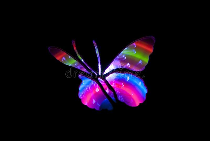 Vlinder Licht het Schilderen Beeld royalty-vrije stock fotografie