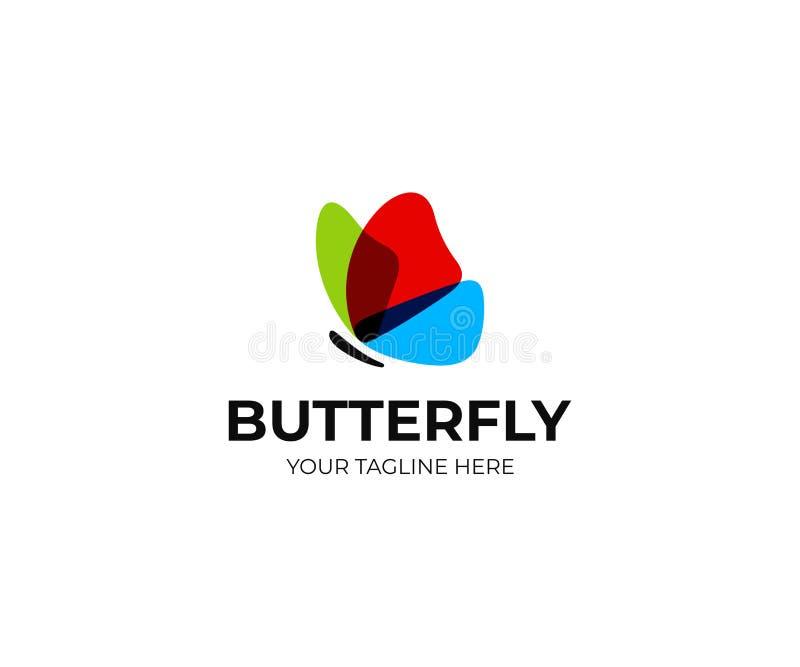 Vlinder Logo Template Kleurrijk vlinders vectorontwerp vector illustratie