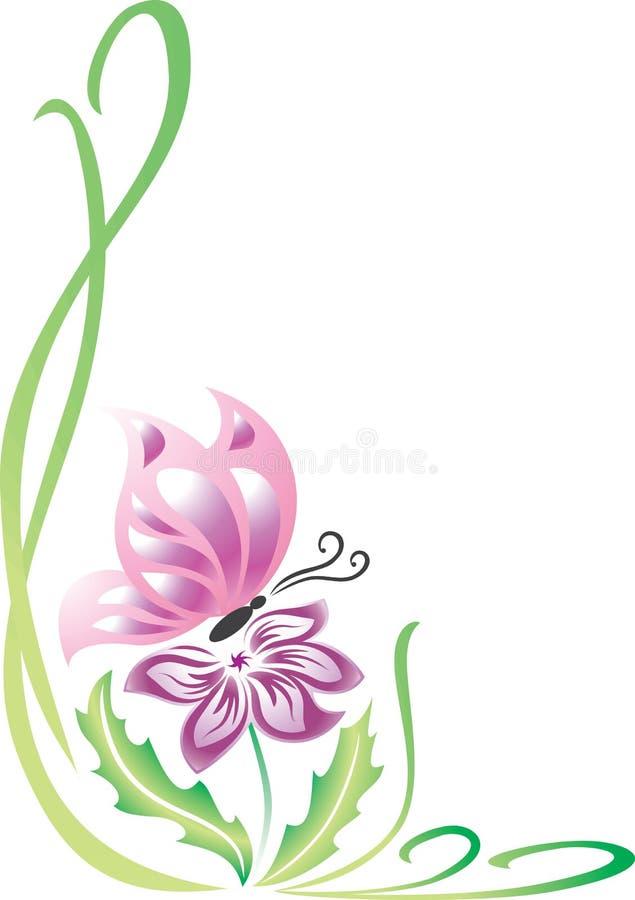 Vlinder op de Bloem royalty-vrije illustratie