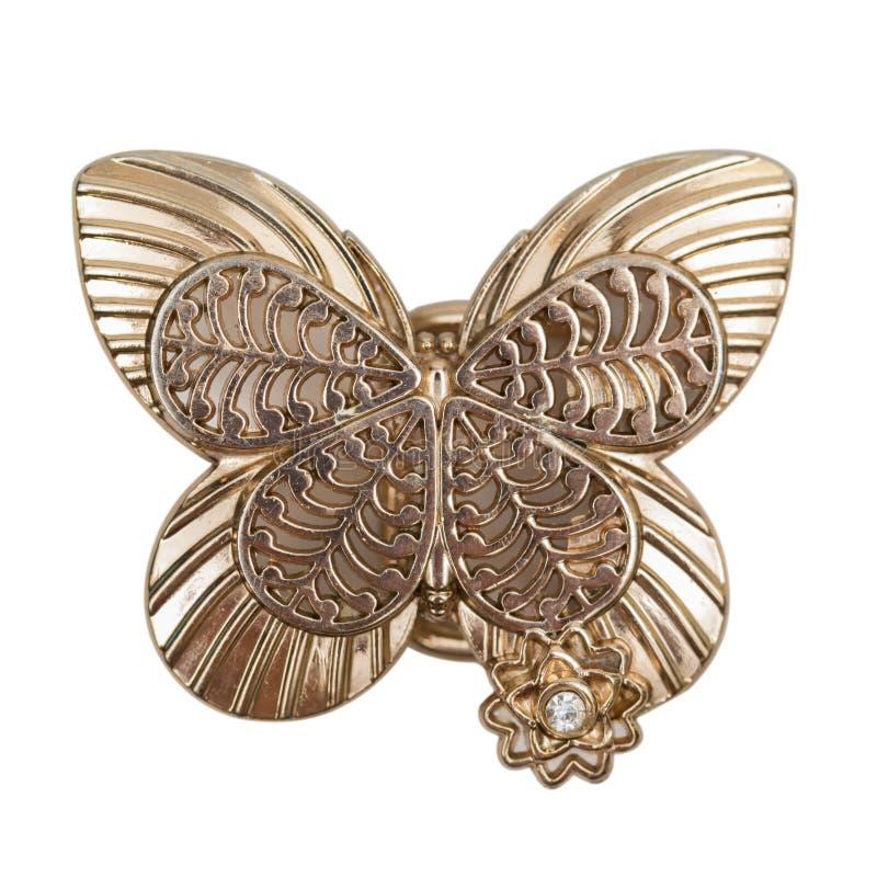 Vlinder op de witte achtergrond stock foto
