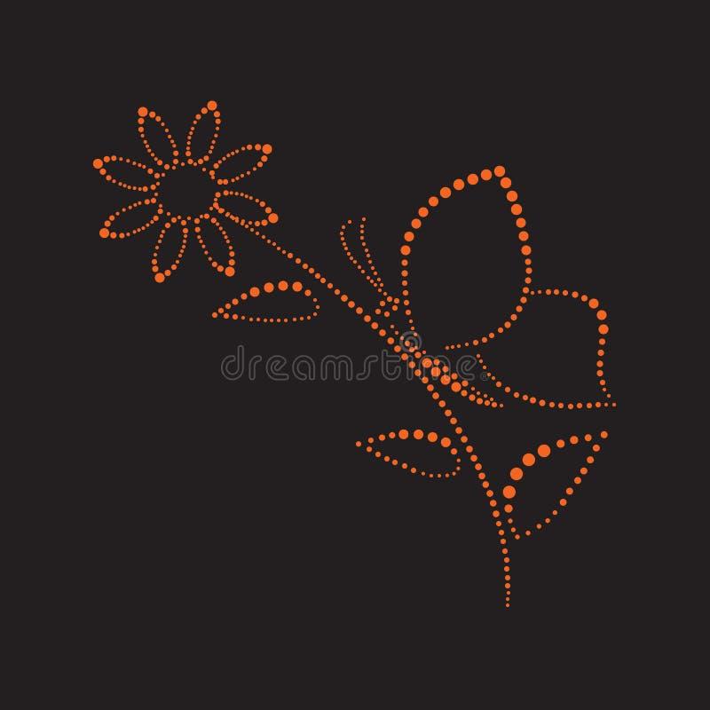 Vlinder op flower1 stock illustratie