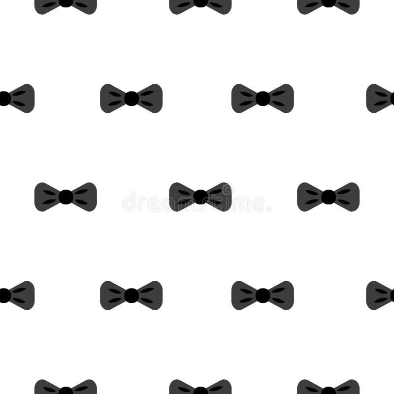 Vlinderdas zwart-wit naadloos patroon stock illustratie