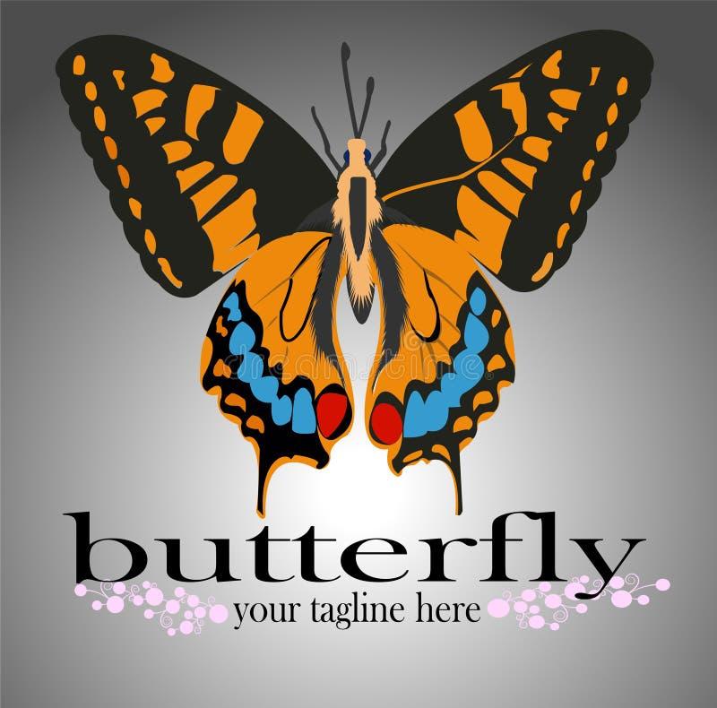 Vlinderembleem voor allerlei activiteiten royalty-vrije illustratie