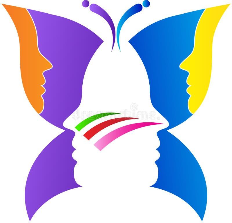 Vlindergezicht stock illustratie