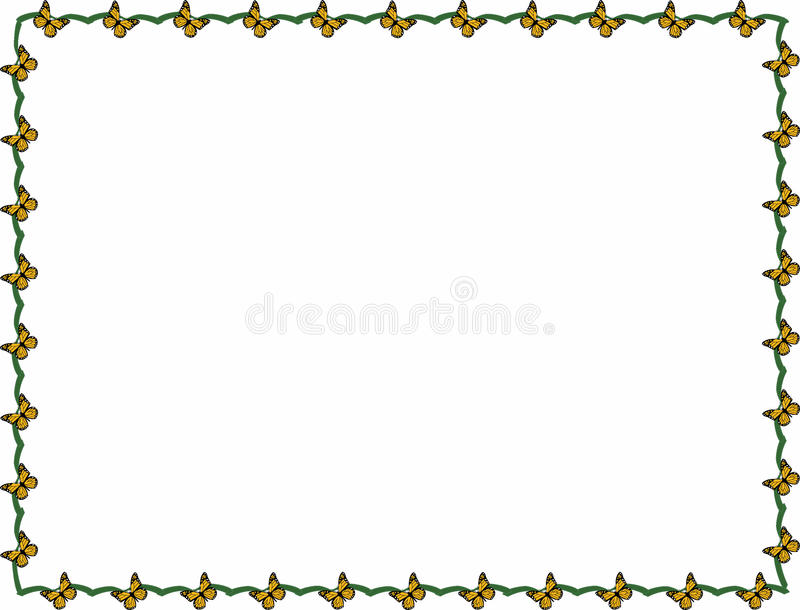 Vlinderkader royalty-vrije illustratie