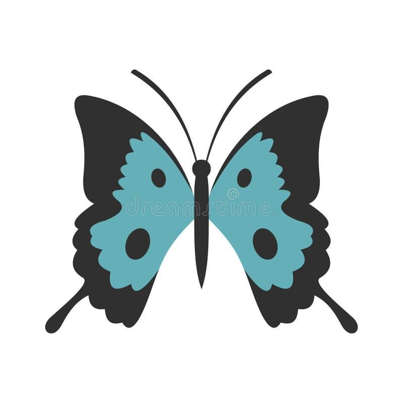 Vlinderpictogram, vlakke stijl royalty-vrije illustratie