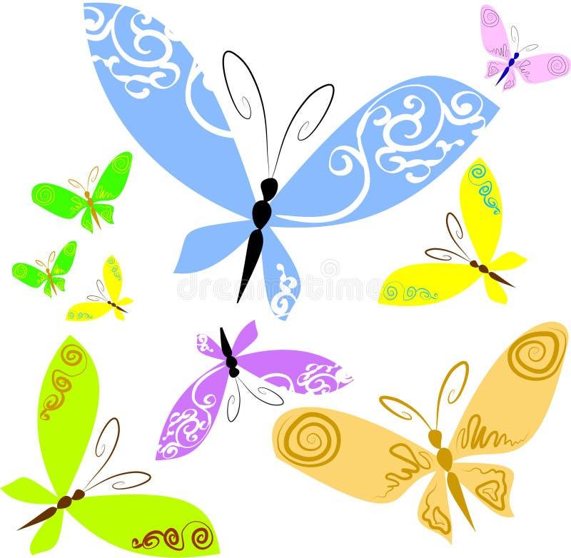 Download Vlinders vector illustratie. Illustratie bestaande uit spiraal - 10776137