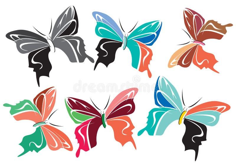Vlinders vector illustratie
