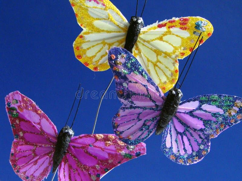 Vlinders in blauw royalty-vrije stock afbeelding