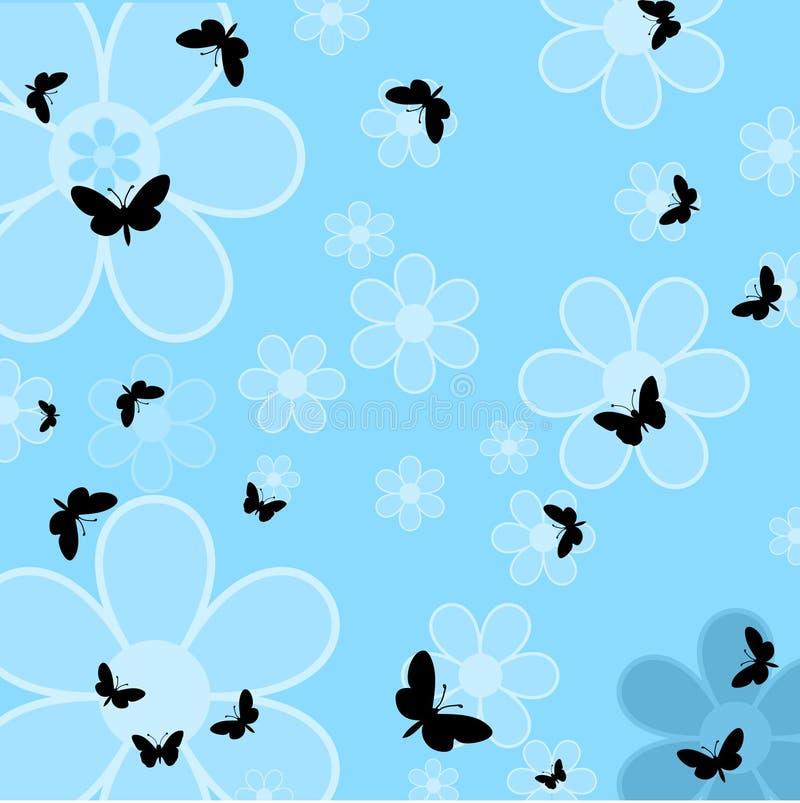 Vlinders en bloemen vector illustratie